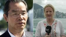 SVT:s Asienkorrespondent Ulrika Bergsten får svar av UD i Peking om den svenska regeringens agerande vid Svenska PEN:s prisutdelning.