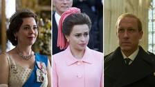 Tre skåderspelare ur serien The Crown.