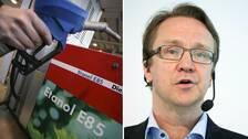 Bil Swedens vd Mattias Bergman ser vissa tveksamheter med att subventionera ombyggnader av bensinbilar till att gå på etanol.