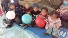 Barn i flyktinglägret al-Hol i Syrien