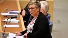Socialdemokraternas gruppledare Annelie Karlsson i riksdagen.