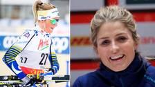 Frida Karlsson och de andra svenskorna tröstas av Therese Johaug.