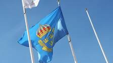 En polisflagga.