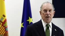 En av de demokratiska presidentkandidaterna Michael Bloomberg är på plats på klimatmötet i Madrid och talar för att USA ska stanna kvar i Parisavtalet.