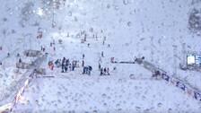 Vädret ställer till det för herrarnas slalom.