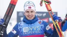 Simen Hegstad Krüger vann 15 km fritt i Davos.