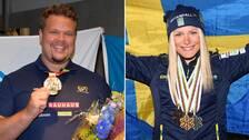 Diskukastaren Daniel Ståhl och längdskidåkaren Frida Karlsson.
