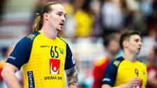 Lukas Nilsson deppar mot Portugal.