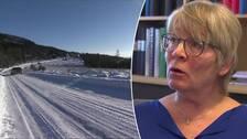 På bild är bredbandssamordnaren Cecilia Sjödén i Torsby.