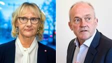Civilminister lena Micko och SCB:s generaldirektör Joakim Stymne