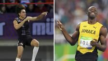 Armand Duplantis och Usain Bolt.