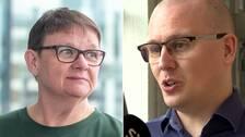 """IT-experterna Karl EmilNikka och Anne-Marie EklundLöwinder. """"Att skicka inloggningsuppgifter via e-post är så fel det kan bli, och att sekretessbelagda uppgifter ligger i ett system som bara skyddas av användarnamn och lösenord, det är patetiskt"""", säger Nikka."""