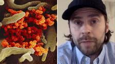 Johan Björnfot från Sverige bunkrade upp med både mat och vatten inför att han skulle behöva stanna inomhus en längre period på grund av coronaviruset.