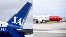 SAS och Norwegians plan på Teneriffa och Gran Canaria förblir stående även under söndagen.