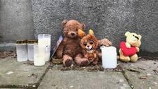 Norrköping, 3-åring död, Styrmansgatan, minnesplats, ljus, nallar