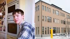 Lukas Parkow till vänster och Karolinska gymnasiet till höger