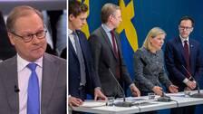 """SVT:s politikkommentator Mats Knutson: """"Överraskande att Moderaterna var så positiva till åtgärden"""""""