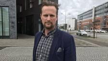 Carl-Johan Sonesson (M) utanför regionhusest i Malmö.