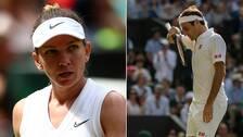 Simone Halep och Roger Federer.