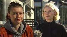 Porträtbilder på Moa Söderberg och Agnes Stålhammar