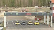 Bilar på startlinjen i Höljes.