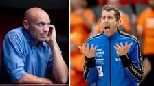 Redbergslids sportchef Henrik Lundström och assisterande tränaren Magnus Wislander, som nu lämnar klubben.