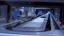 Provrör med olika tester sorteras och analyseras automatiskt