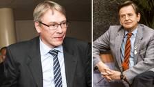 Palmeåklagaren Krister Petersson och Olof Palme.