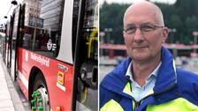 Fredrik Cavalli-Björkman, trafikdirektör på SL, och en SL-buss