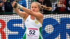 Grete Ahlberg, Hammarby IF deltar i slägga under friidrotts SM dag 3 den 1 september 2019 i Karlstad