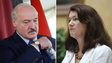 Alexander Lukasjenkos och Ann Linde.