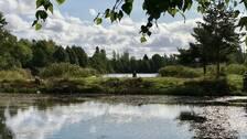 """""""Gropen"""" utanför Kolbäck. Fiskesjö som SFK Atletfiskarna förvaltar."""