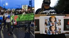 Demonstrationer pågår i Louisville i delstaten Kentucky i USA, efter besked om åtal i fallet med Breonna Taylor.
