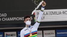 Filippo Ganna tog VM-guld i tempoloppet.
