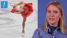 Alina Zagitova, Ryssland, är en av alla idrottare som berörs av inreseförbundet till Sverige. I mars nästa år är det tänkt att konståknings-VM ska avgöras i Stockholm.