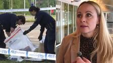 Polisen samlar bevismaterial efter det misstänkta bussmordet i Kiruna. Åklagaren syns på bild.