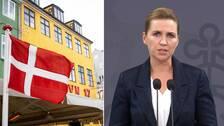 Danmarks statsminister presenterade striktare coronarestriktioner under fredagens pressträff.
