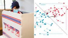 En kvinna röstar i Washington