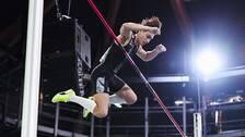 Armand Duplantis hoppade i Lievin i februari i år.