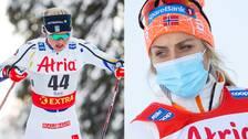 Maja Dahlqvist och Therese Johaug.