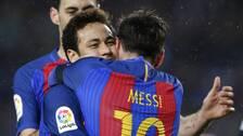 Messi och Neymar i Barçatröjan.