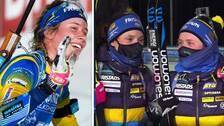 Systrarna Öberg delade prispall för första gången.