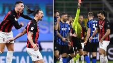 Zlatan Ibrahimovic blev målskytt och utvisad i Milano-derbyt.