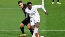 Vinicius kvitterade för Real Madrid.