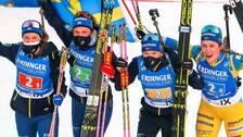 Sverige vann stafetten i Nove Mesto.