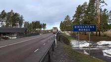 väg vid riksgräns till Norge