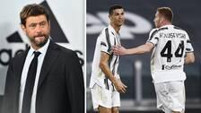 Juventus ordförande Andrea Agnelli (t.v) har varit drivande för den nya superligan. Nu kan Juventus kastas ut ur Serie A om de inte drar sig ur.