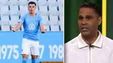 Malmö FF:s Anel Ahmedhodzic och SVT-experten Daniel Nannskog.
