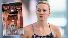 Sarah Sjöström säger att hon tappat fyra centimeter i muskelmassa runt sin skadade högerarm.