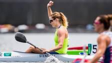 Linnea Stensils är klar för semifinal i kanot.